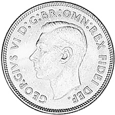 1951-1952 Australia Florin obverse