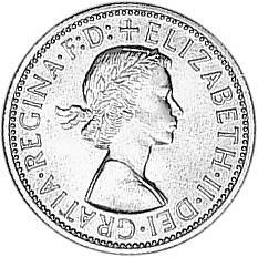 1956-1963 Australia Florin obverse