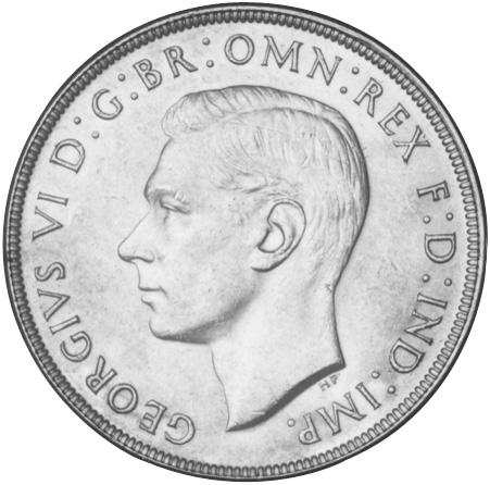1937-1938 Australia Crown obverse