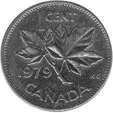 1978-1979 Canada Cent reverse