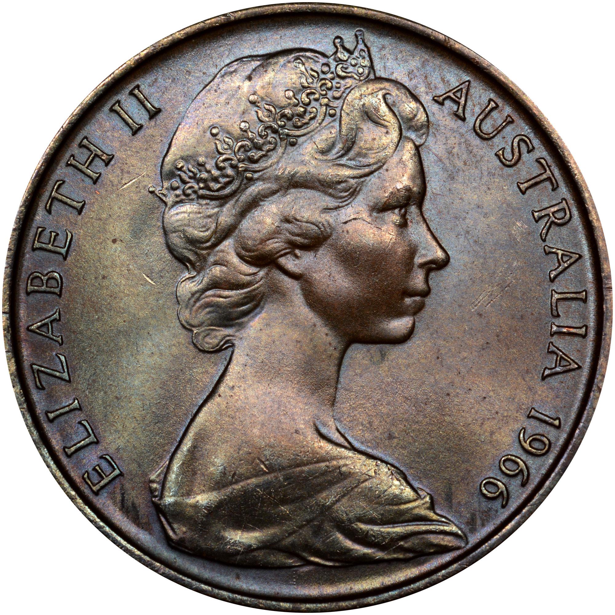 1966-1984 Australia 2 Cents obverse