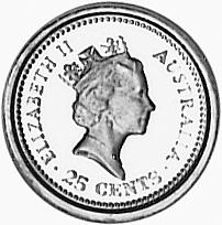 1988 Australia 25 Cents obverse