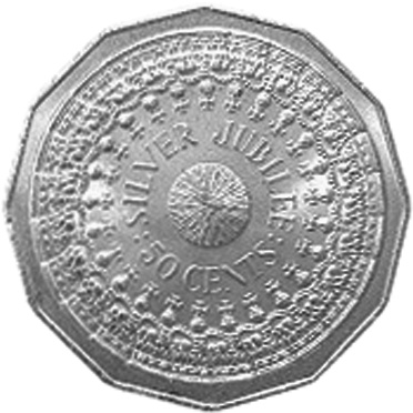 1977 Australia 50 Cents reverse
