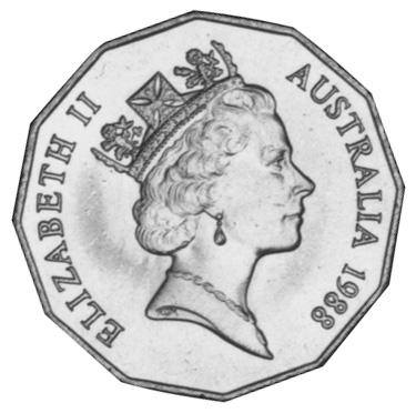 1988 Australia 50 Cents obverse