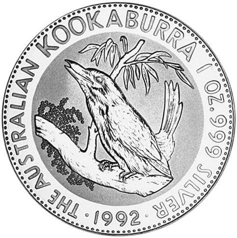 1992 Australia Dollar reverse