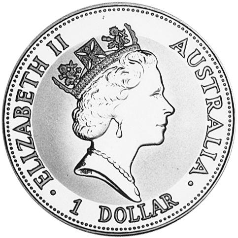 1992 Australia Dollar obverse