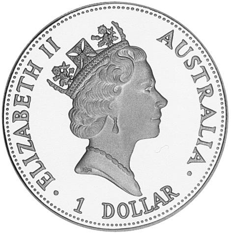 1992-1993 Australia Dollar obverse