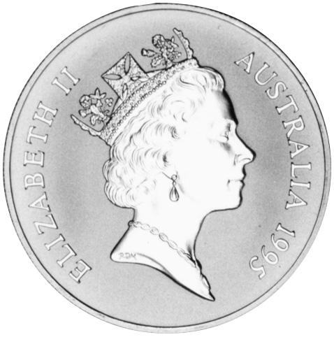 1995 Australia Dollar obverse