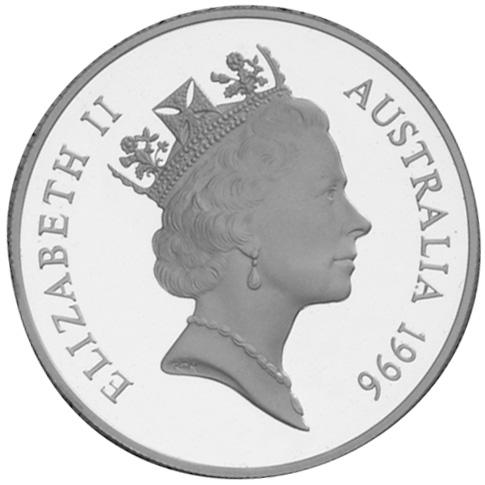 1996 Australia Dollar obverse