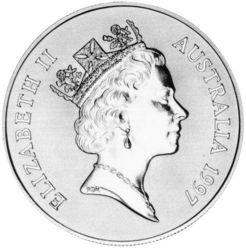 1997 Australia Dollar obverse