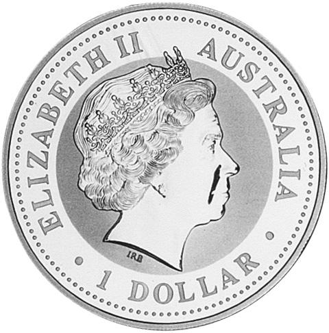 2001 Australia Dollar obverse