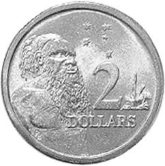 Australia 2 Dollars reverse