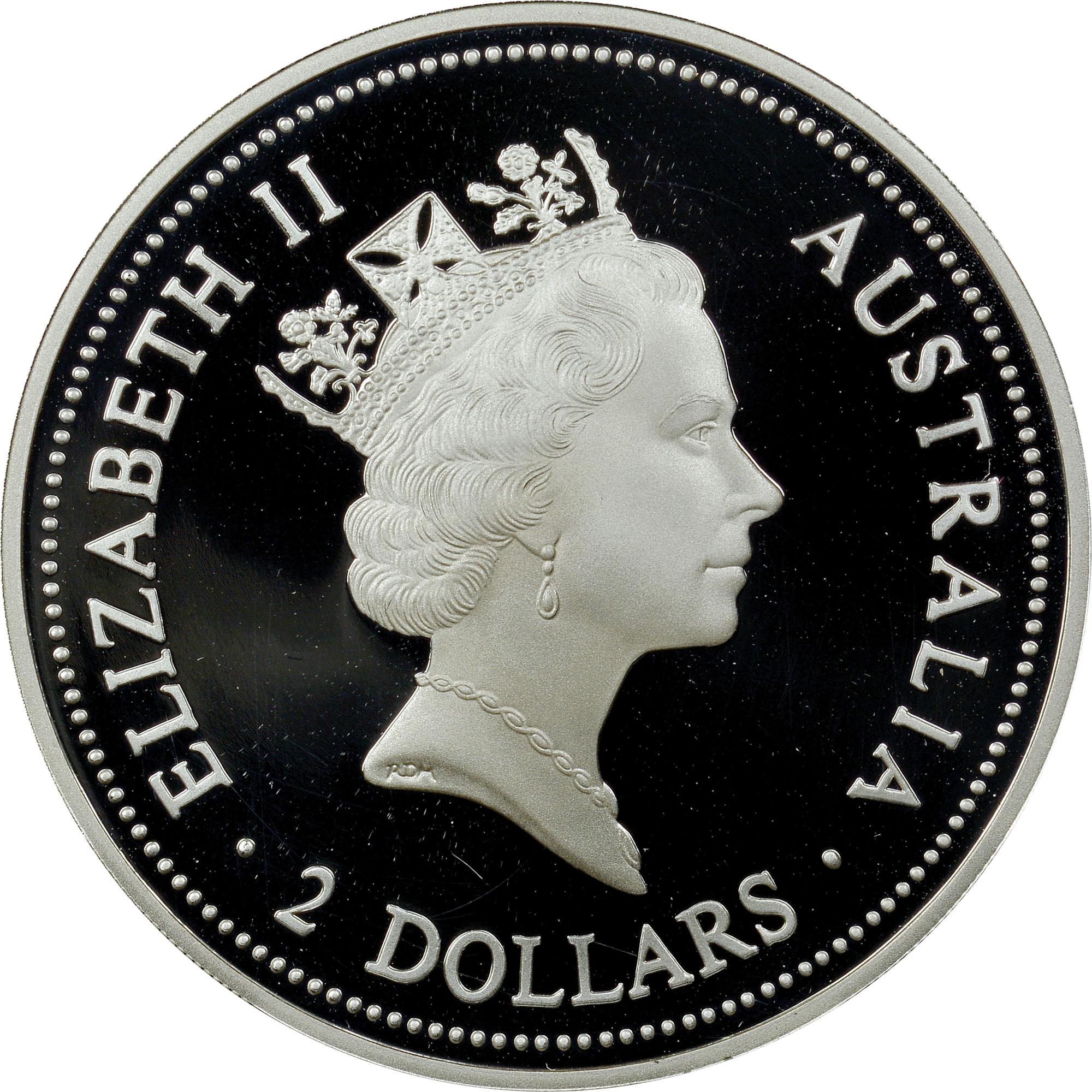 1995-1996 Australia 2 Dollars obverse