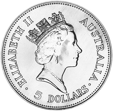 1990 Australia 5 Dollars obverse