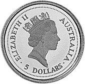1994-1995 Australia 5 Dollars obverse