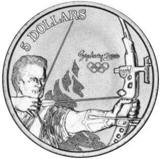 Australia 5 Dollars reverse