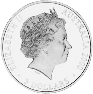 2000 (1999) Australia 5 Dollars obverse