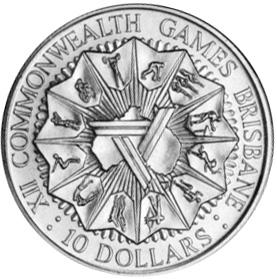 1982 Australia 10 Dollars reverse
