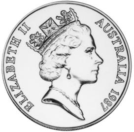 1987 Australia 10 Dollars obverse