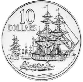 1988 Australia 10 Dollars reverse