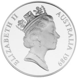 1989 Australia 10 Dollars obverse