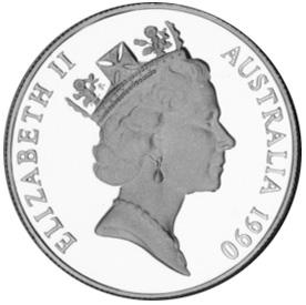 1990 Australia 10 Dollars obverse