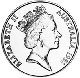 1991 Australia 10 Dollars obverse