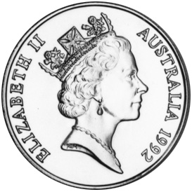 1992 Australia 10 Dollars obverse