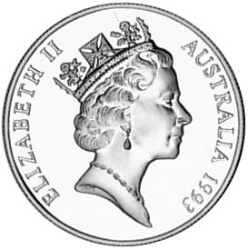 1993 Australia 10 Dollars obverse