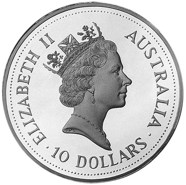 1993-1994 Australia 10 Dollars obverse