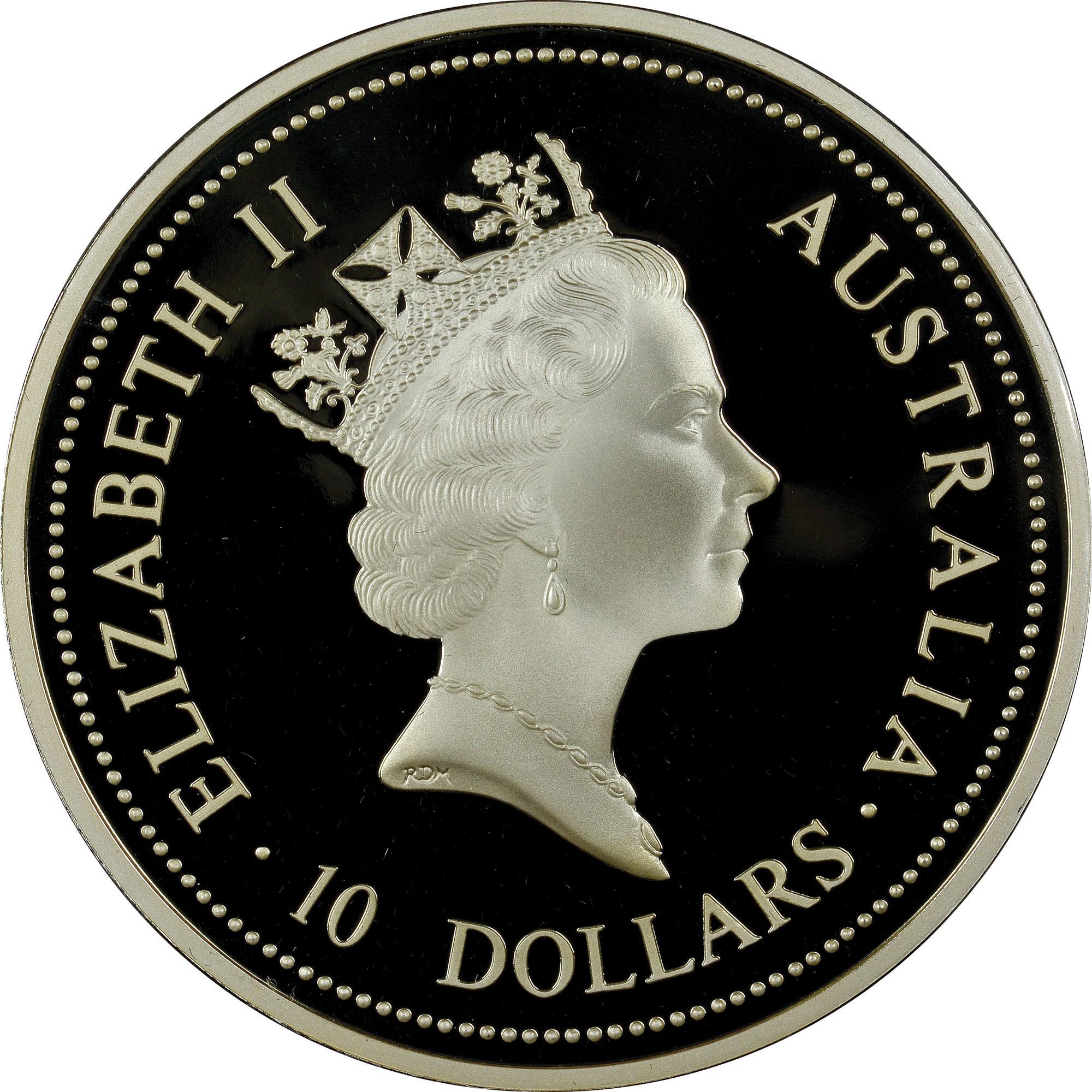 1995-1996 Australia 10 Dollars obverse