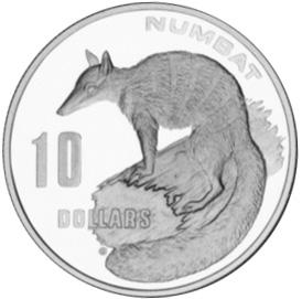 1995 Australia 10 Dollars reverse