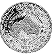 1987 Australia 15 Dollars reverse