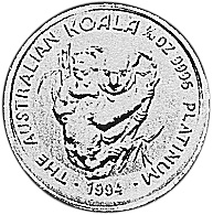 1994 Australia 15 Dollars reverse