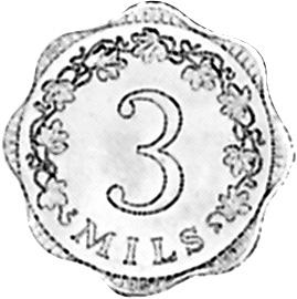 Malta 3 Mils reverse
