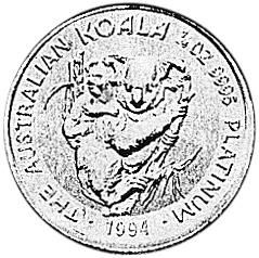 1994 Australia 25 Dollars reverse