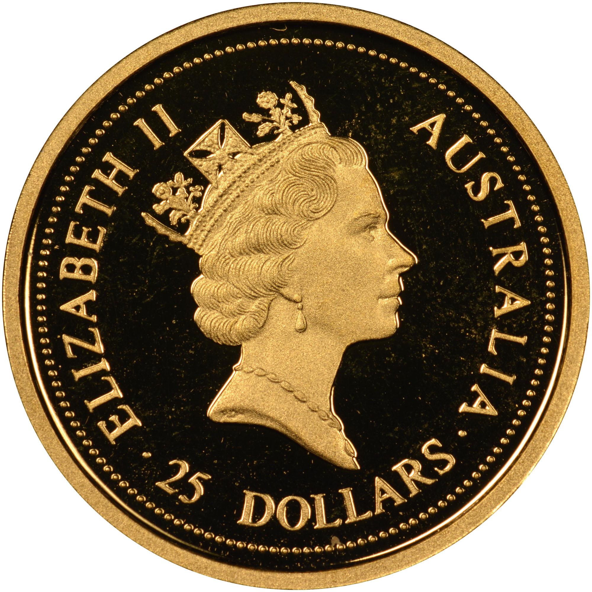 1996 Australia 25 Dollars obverse