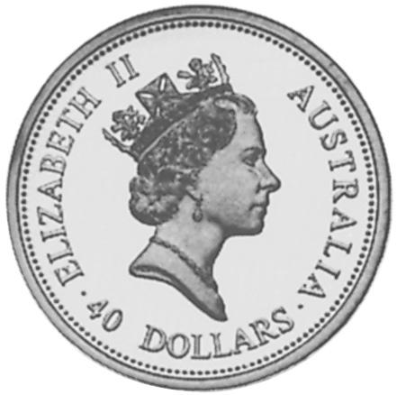 1995 Australia 40 Dollars obverse