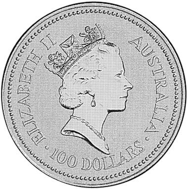 1990-1991 Australia 100 Dollars obverse