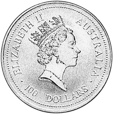 1994-1995 Australia 100 Dollars obverse