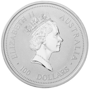 1996 Australia 100 Dollars obverse