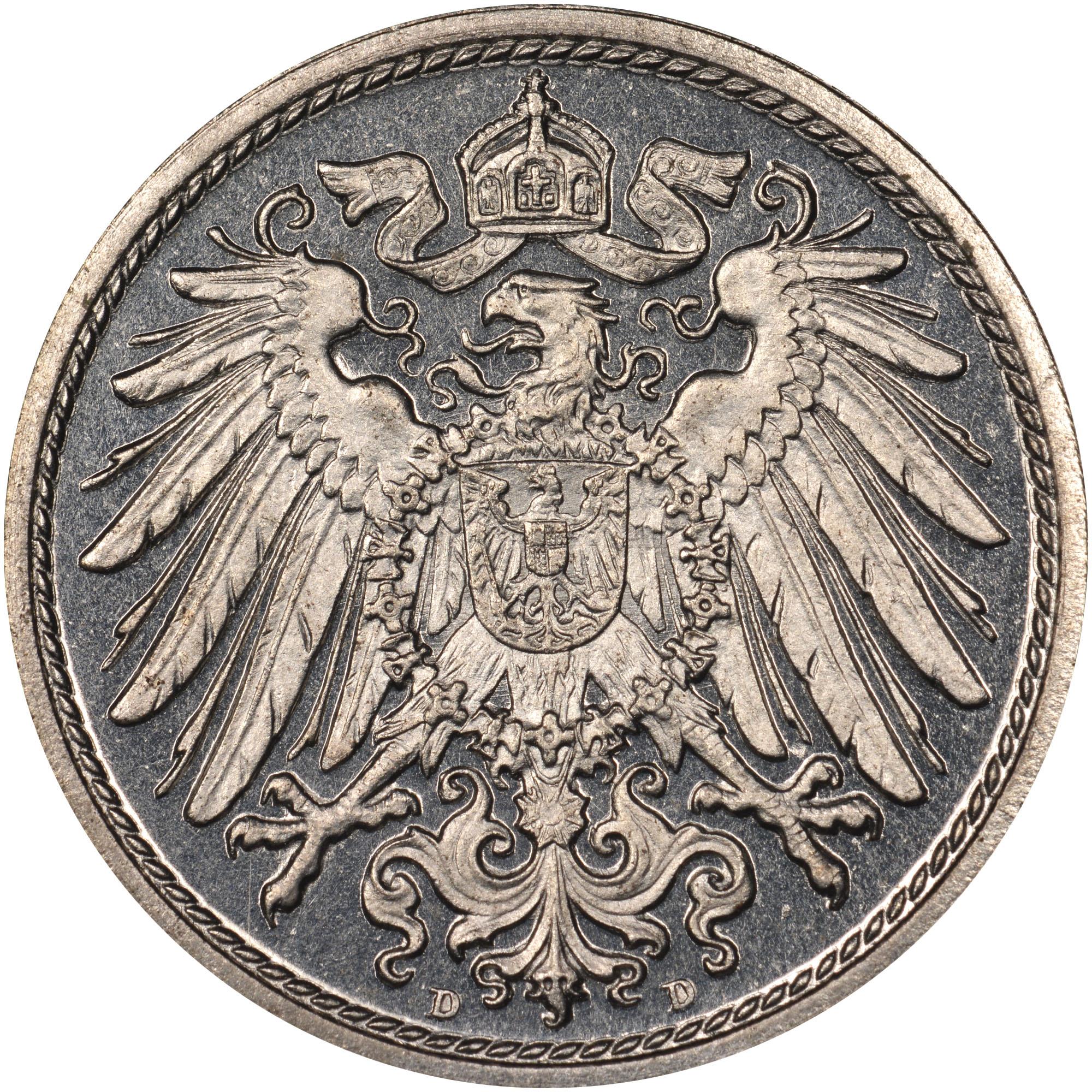 Deutsches reich 10 pfennig 1903 coin