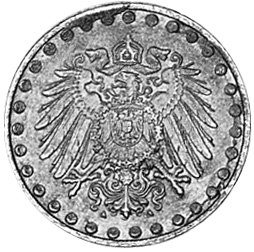 Germany - Empire 10 Pfennig reverse