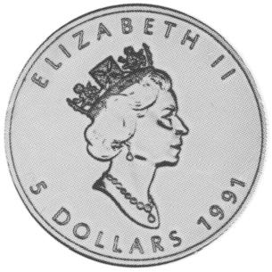Canada 5 Dollars obverse