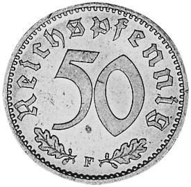 Germany - Third Reich 50 Reichspfennig reverse