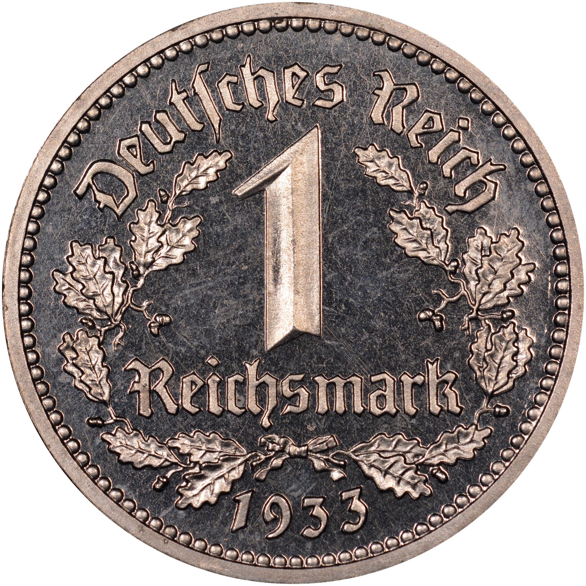 Germany - Third Reich Reichsmark obverse