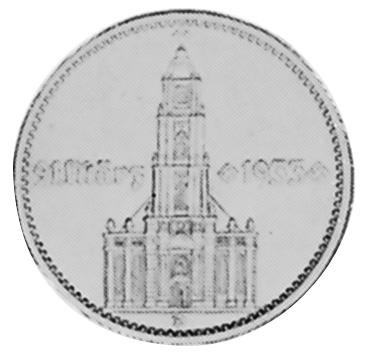Germany - Third Reich 5 Reichsmark reverse