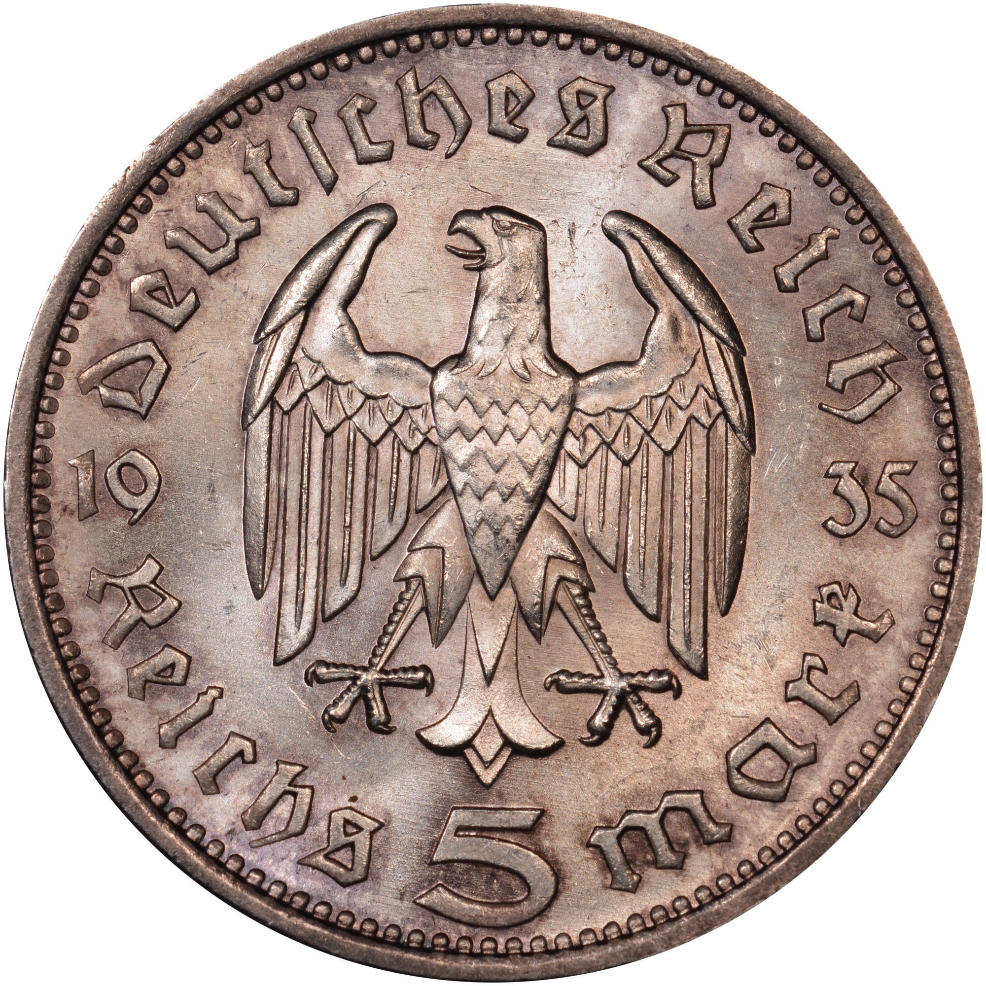Germany third reich 5 reichsmark km 94 prices & values   ngc.