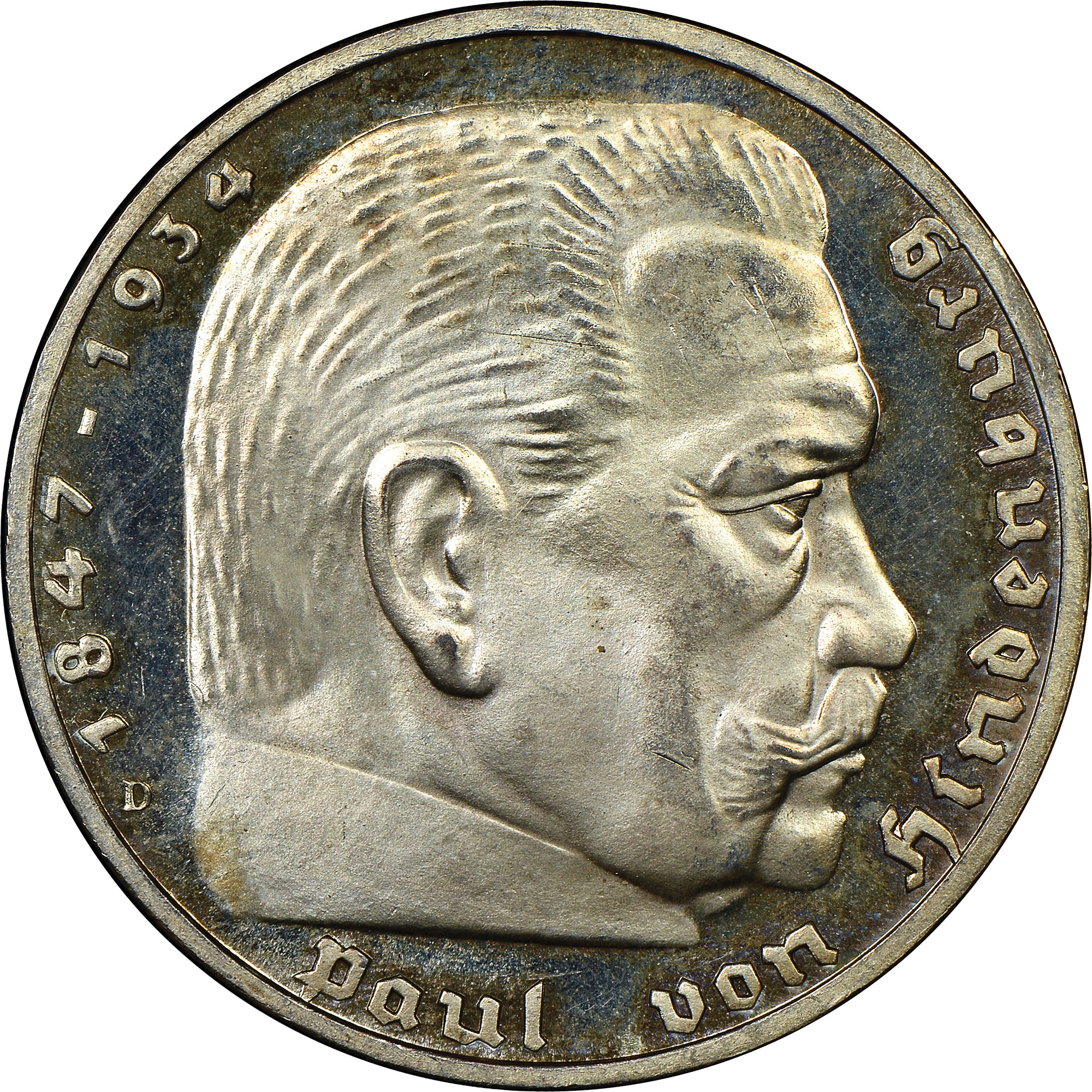 Germany - Third Reich 5 Reichsmark reverse