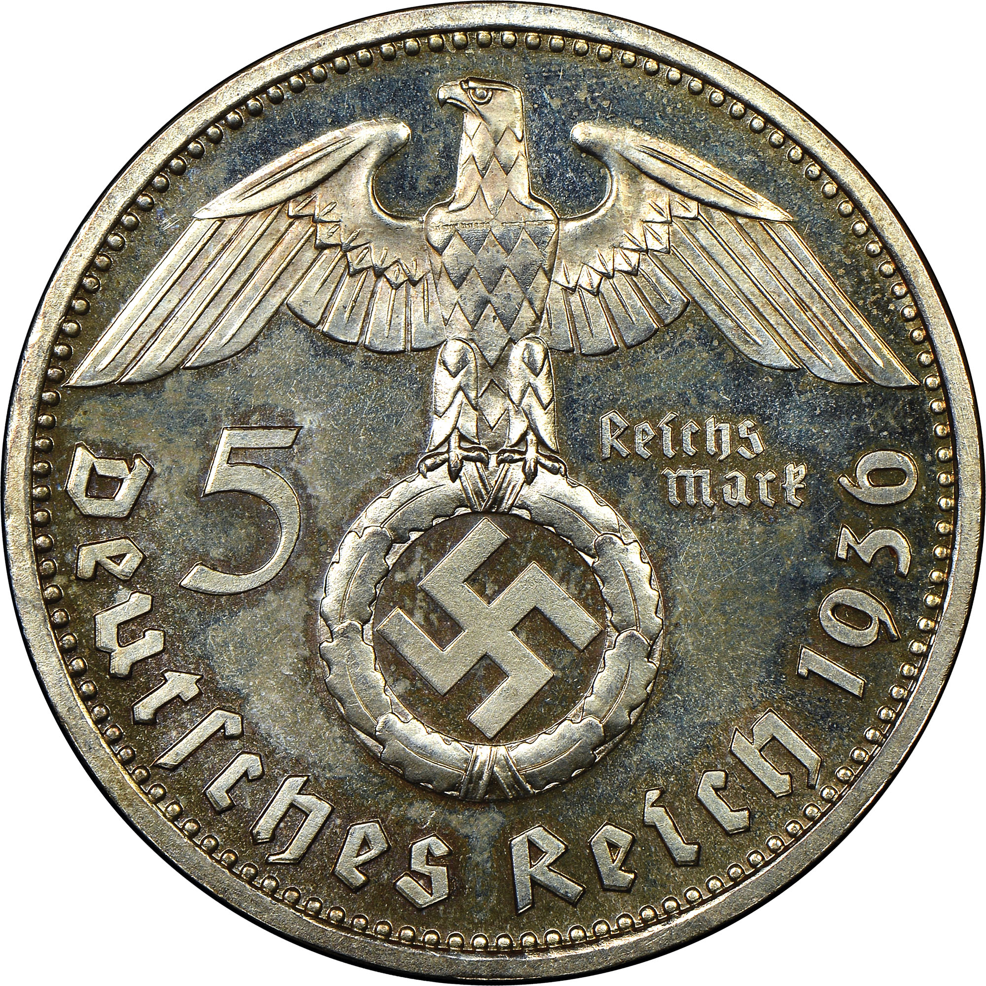Germany - Third Reich 5 Reichsmark obverse